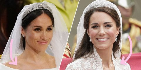 Meghan markles wedding dress is so different from kate middleton image junglespirit Images