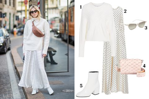 White, Clothing, Street fashion, Shoulder, Fashion, Dress, Footwear, Sleeve, Joint, Neck,