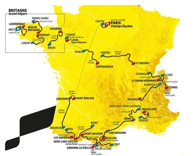 alle etappes van de tour de france 2021