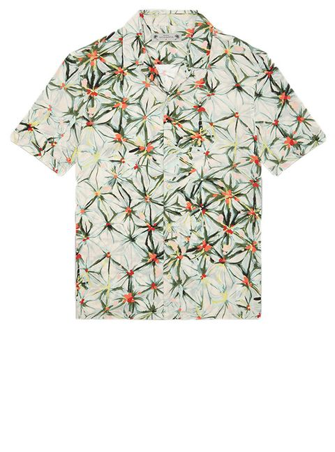 Clothing, Sleeve, T-shirt, Top, Pattern, Active shirt, Wildflower, Pattern,