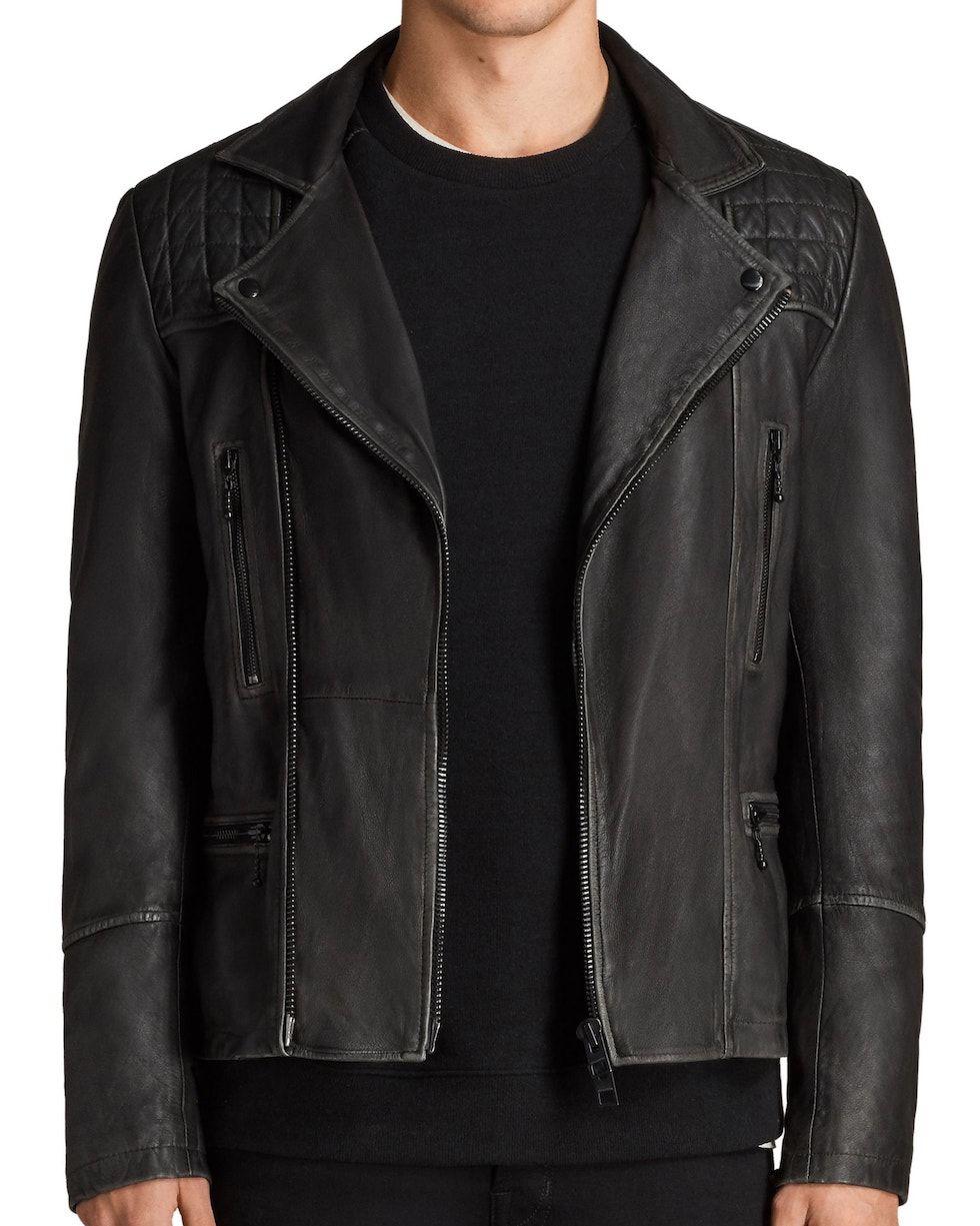 allsaints cargo biker slim fit jacket