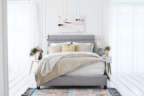 allswell supreme 14-inch hybrid mattress in a bedroom