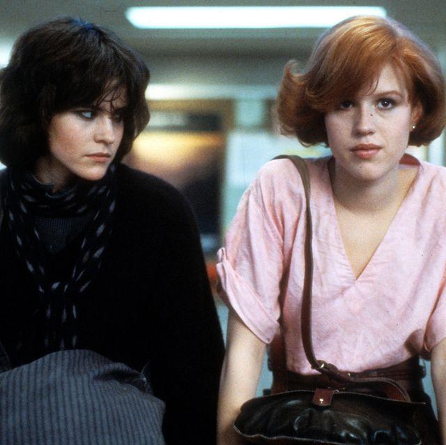 Ally Sheedy and Molly Ringwald in the 'Breakfast Club'
