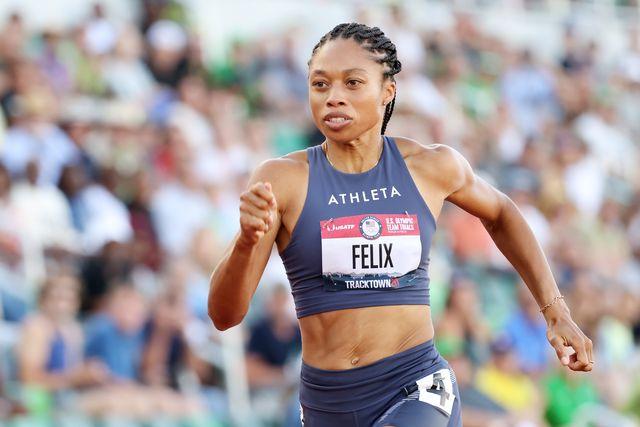 la atleta allyson felix durante los trials de estados unidos