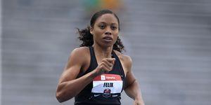 Allyson Felix compite en los Trials de Des Moines en Estados Unidos