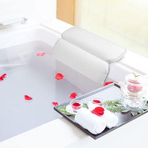 almohada impermeable para la bañera