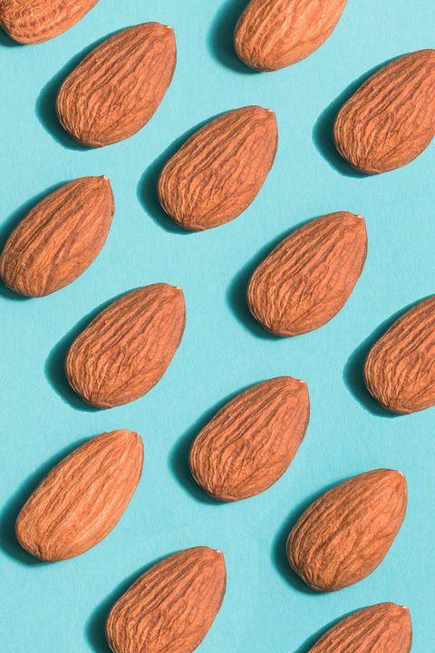 Almond, Apricot kernel, Leaf, Plant, Pattern, Superfood, Food, Prunus,