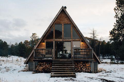 cabaña rústica en airbnb