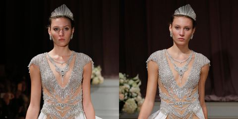 This Scandalous Wedding Dress Has a Very Naked Bedazzled Leotard Bit