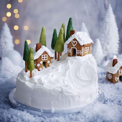 Alpine Christmas Cake Decoration