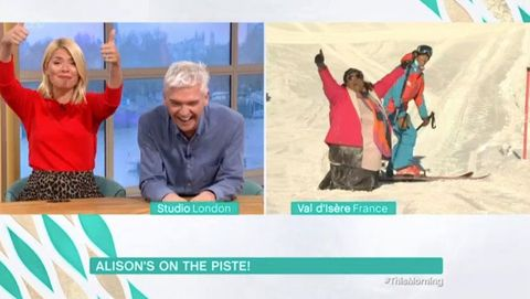 Alison Hammond falls over on This Morning