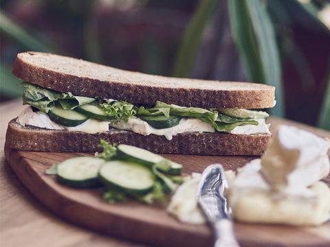 Food, Green, Finger food, Cuisine, Vegetable, Baked goods, Sandwich, Ingredient, Leaf vegetable, Dishware,