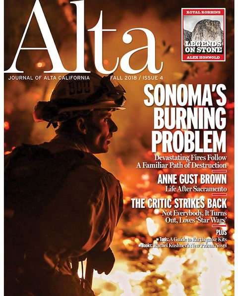 alta cover, fall 2018, issue 4, sonoma's burning problem