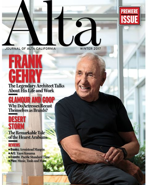 alta cover, fall 2017, issue 1, frank gehry