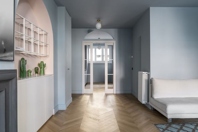 colori freddi le pareti blu di casa altaguardia a milano, luca camporeale