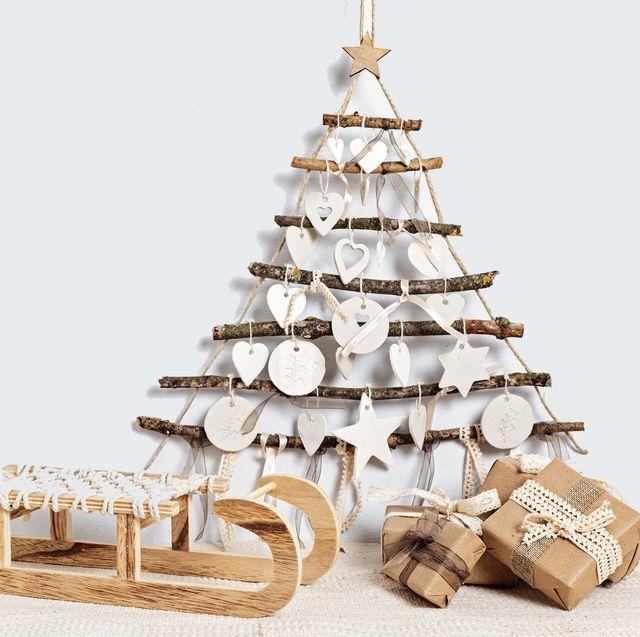 alternatieve houten kerstboom