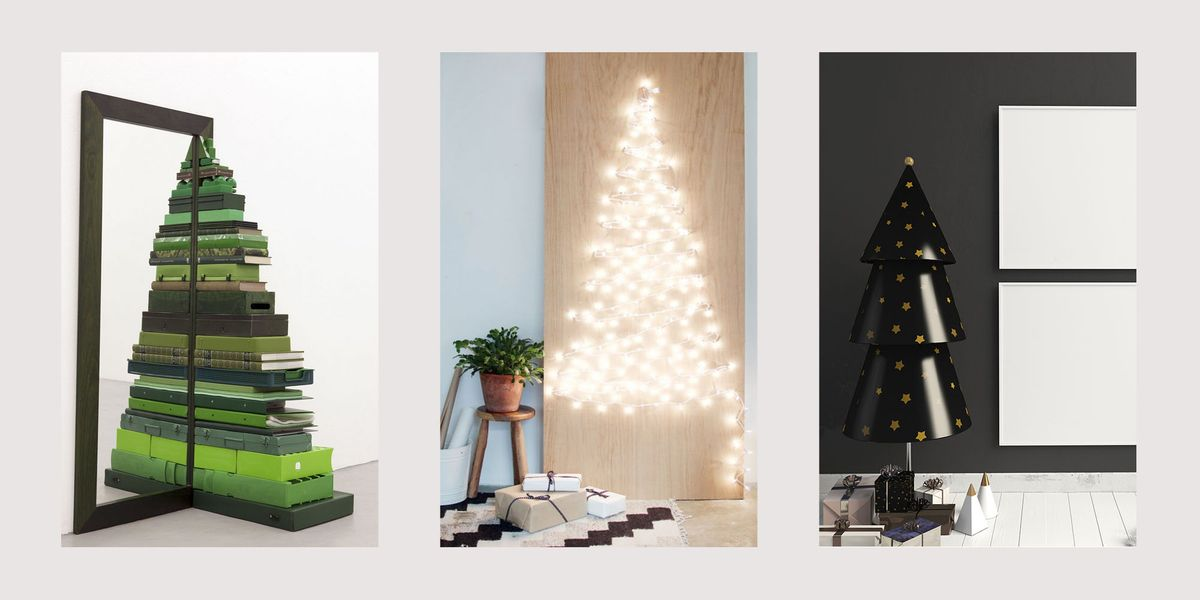 21 alternative christmas tree ideas unique modern - Modern christmas tree ideas ...