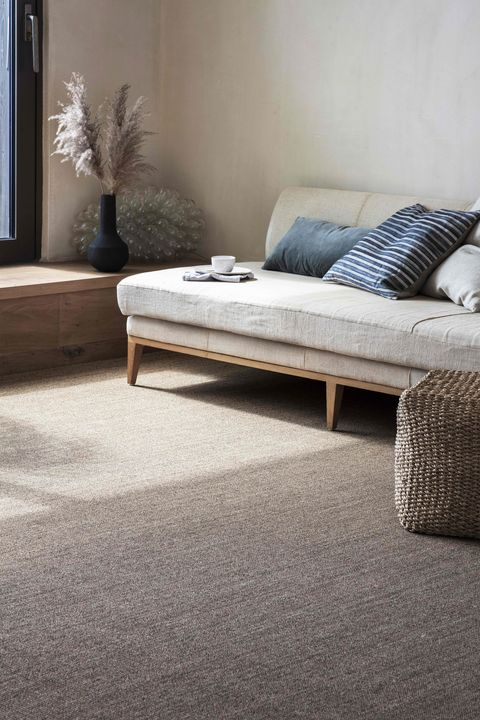 neutral carpet with daybed