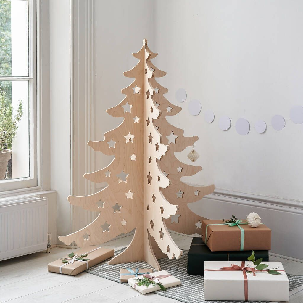 15 Wooden Christmas Trees To Buy This Festive Season