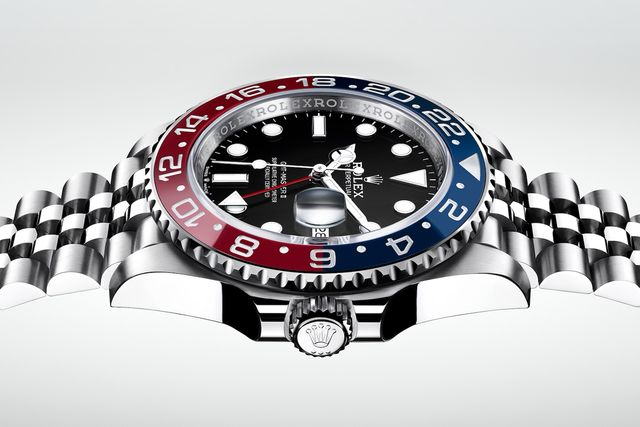 rolex gmt master ii with dual colored dial