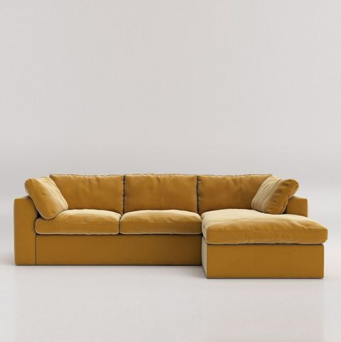 Mustard velvet sofa, Swoon at Very