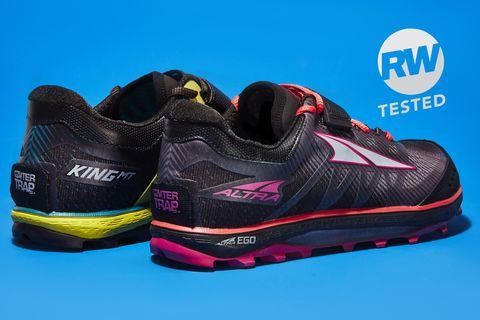 Footwear, Shoe, Black, Walking shoe, Yellow, Outdoor shoe, Magenta, Sneakers, Athletic shoe, Sportswear,