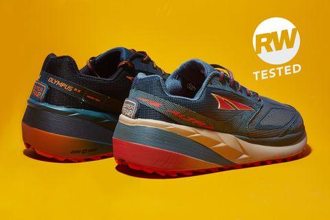 Shoe, Footwear, Outdoor shoe, Orange, Running shoe, Walking shoe, Yellow, Athletic shoe, Sneakers, Cross training shoe,