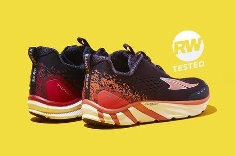 Shoe, Footwear, Orange, Outdoor shoe, Walking shoe, Sneakers, Yellow, Sportswear, Product, Running shoe,