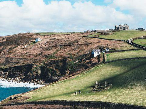 Sky, Green, Hill, Highland, Coast, Cloud, Mountain, Grass, Headland, Cliff,