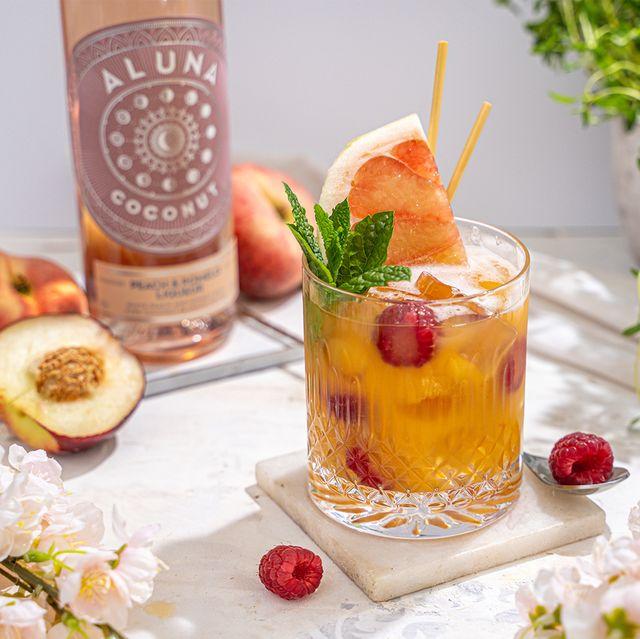 aluna coconut peach and pomelo rum liqueur