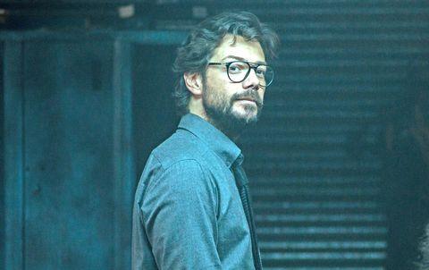 Álvaro morte en una escena de la cuarta temporada de 'la casa de papel'