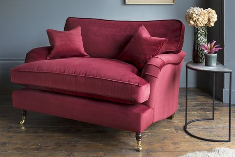 Alwinton Snuggler In Lumino Wine, Sofas & Stuff
