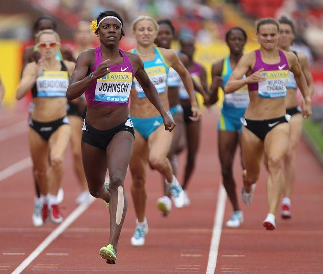 una carrera de 800m en la liga de diamante de gateshead en gran bretaña