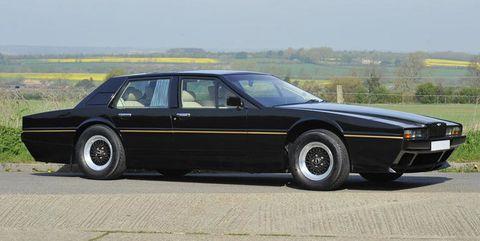 Land vehicle, Vehicle, Car, Sedan, Aston martin lagonda, Full-size car, Personal luxury car, Luxury vehicle, Classic car, Coupé,