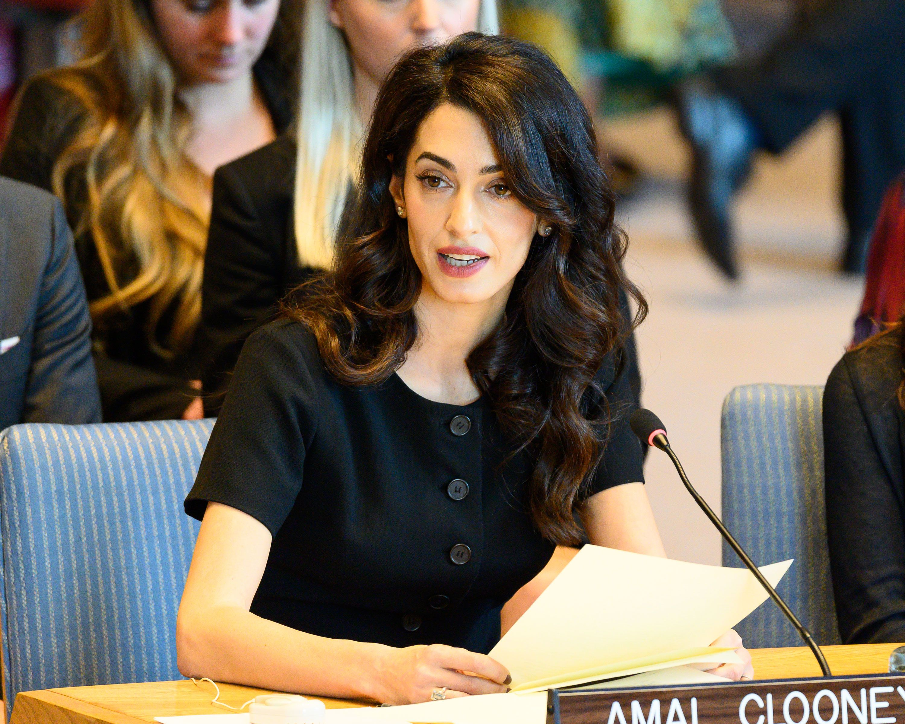 Amal Clooney speaks at U.N. Security Council Meeting on Sexual Violence During Conflict