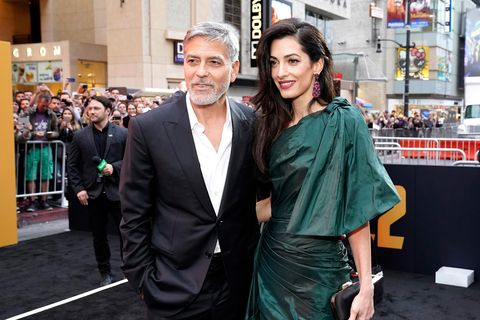 George Clooney jokes he's not happy the royal baby has stolen his thunder