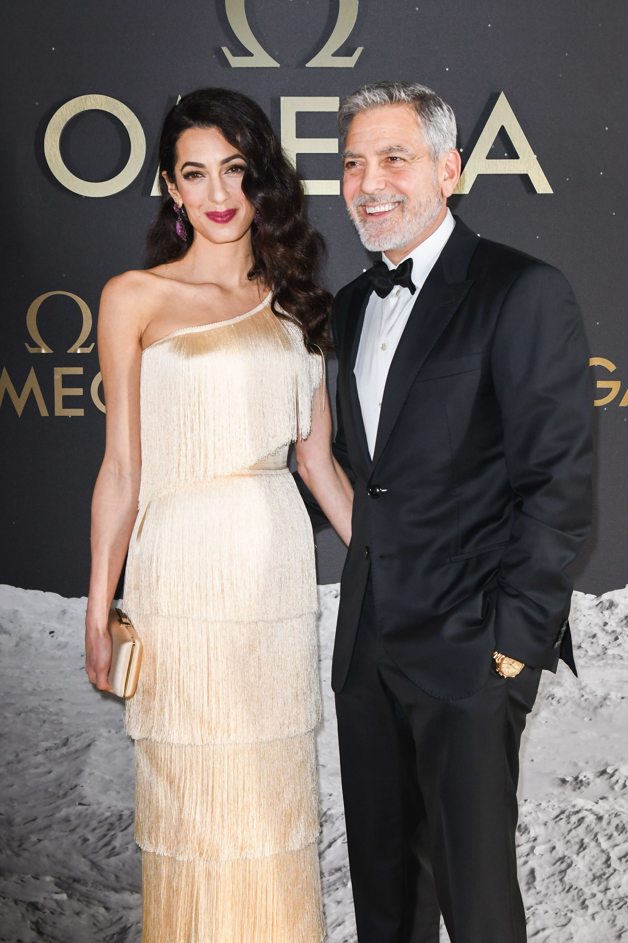 Amal Clooney channels old Hollywood glamour at a gala event with George Clooney