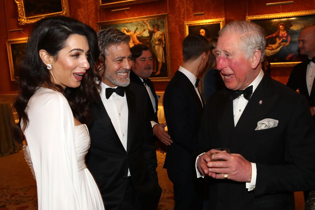 See All the Best Photos of George and Amal Clooney with Prince Charles at Tonight's Charity Dinner