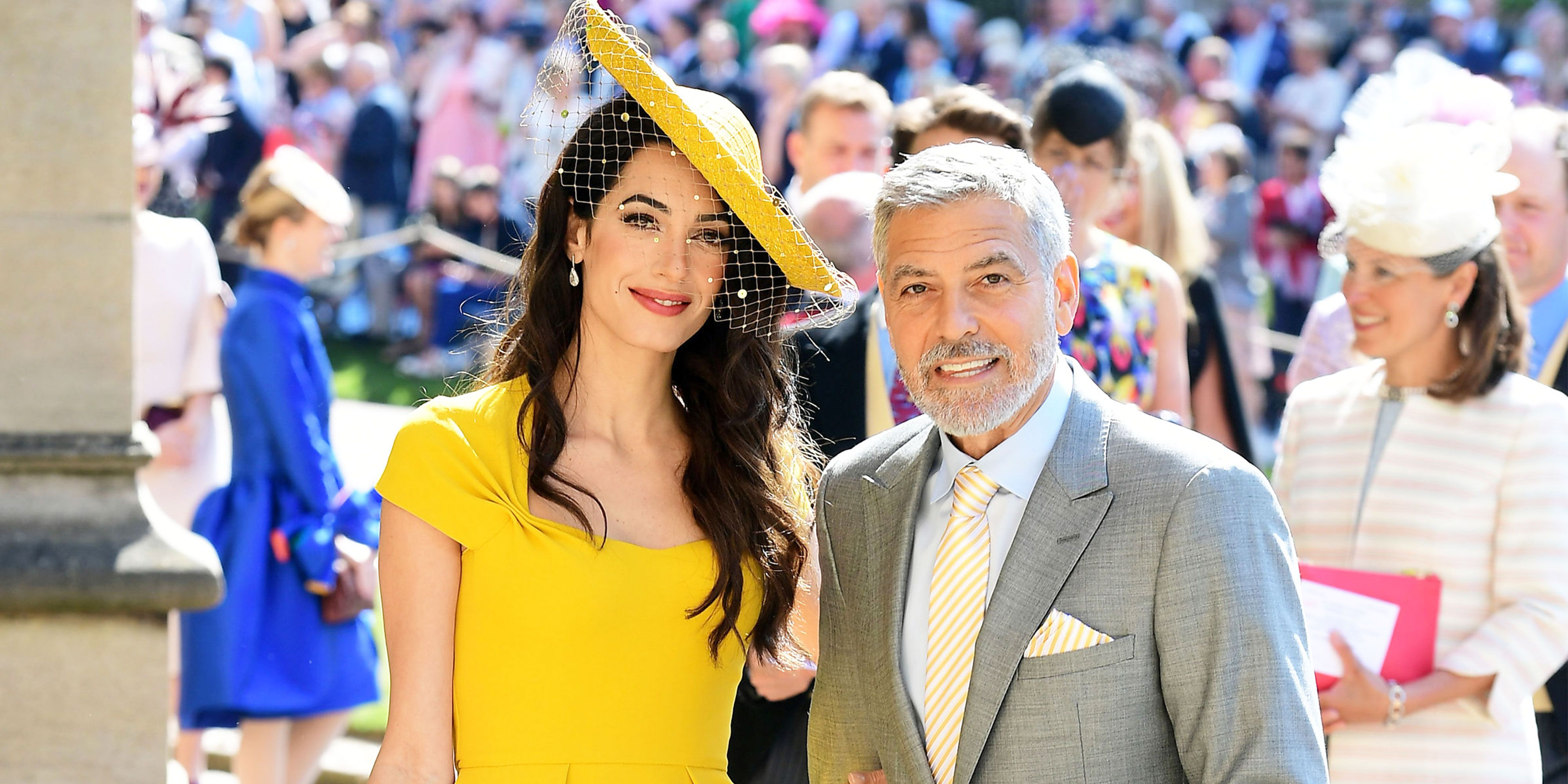 Amal Clooney Royal Wedding.Amal And George Clooney Are Best Dressed Couple At Royal Wedding