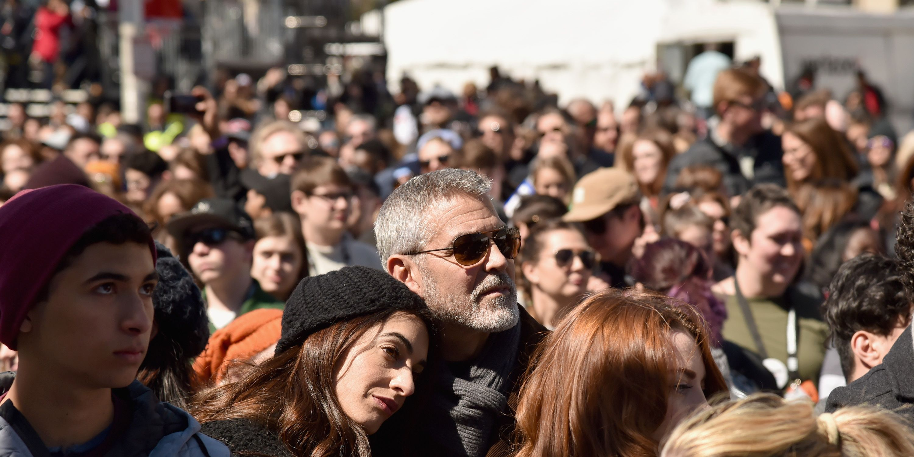 George Clooney,AmalClooney, March For OurLives,Washington