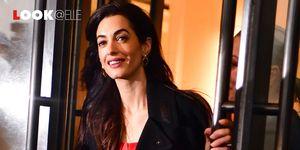 Amal Clooney look: la tuta lunga elegante è tendenza moda 2019
