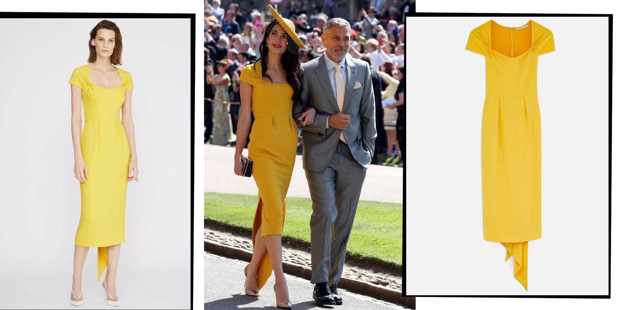 Amal Clooney S Sun Yellow Stella Mccartney Royal Wedding Dress Is