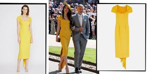 Amal Clooney Royal Wedding Yellow Dress