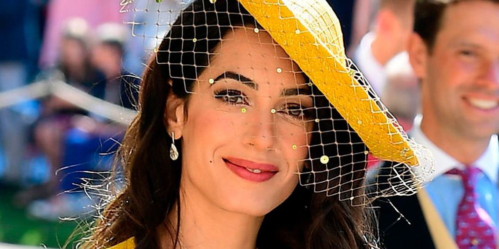 Royal wedding guests: Amal Clooney's beauty look