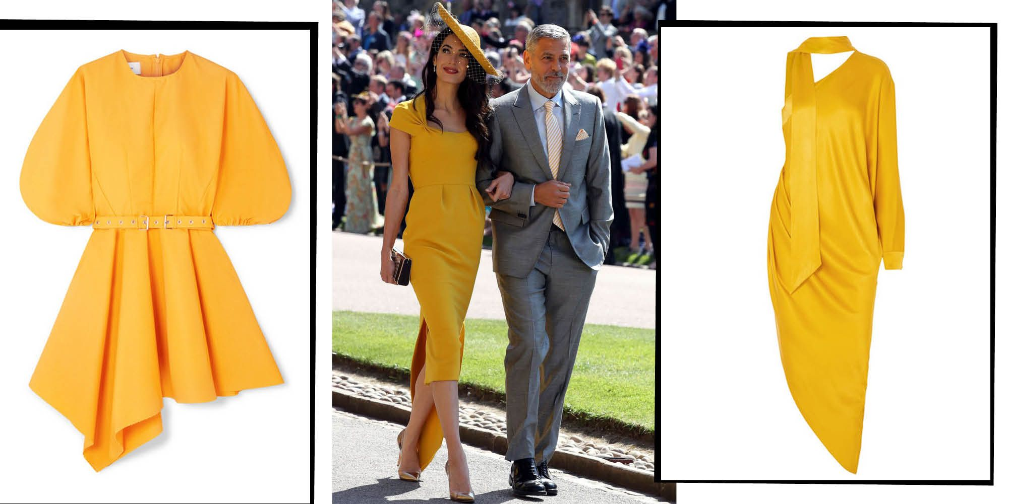 67a03eb5261 Sun-Coloured Wedding Guests Dresses You Need To Channel Your Inner Amal  Clooney