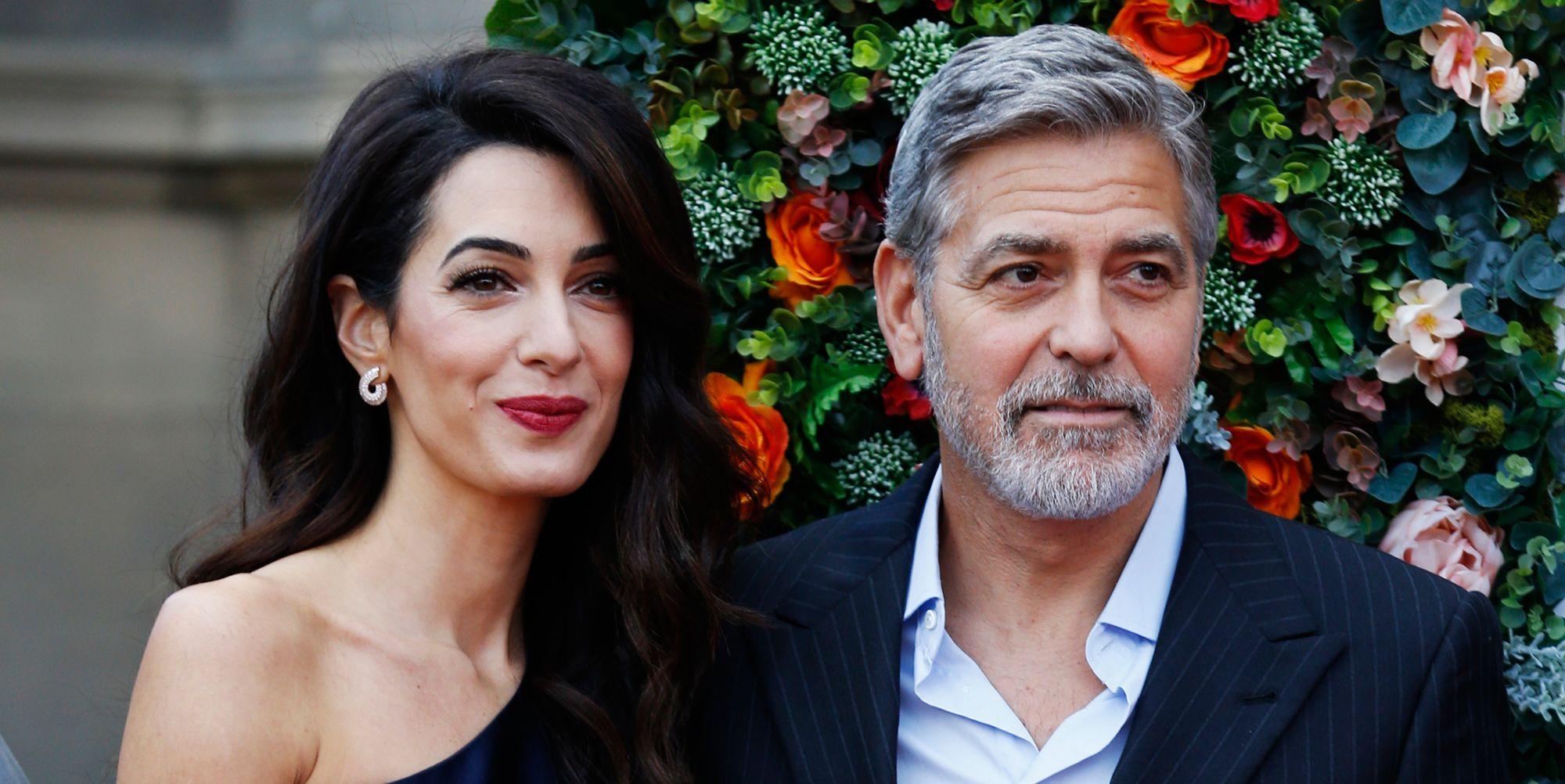 Amal Clooney looks perfect in navy Stella McCartney for charity gala in Edinburgh
