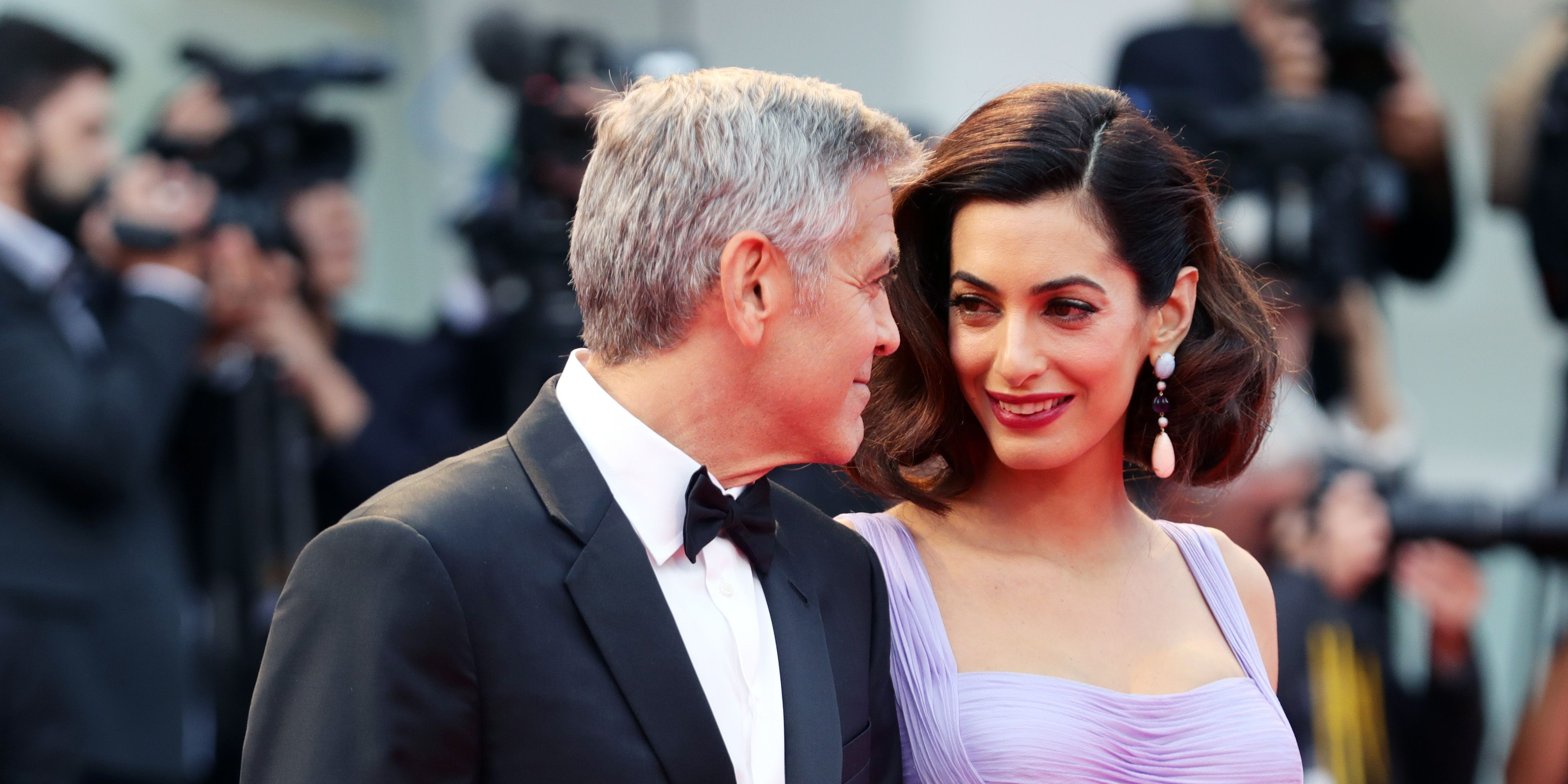 Amal George Clooney Venice red carpet