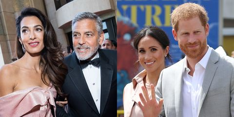 George and Amal Clooney and Prince Harry and Meghan Markle
