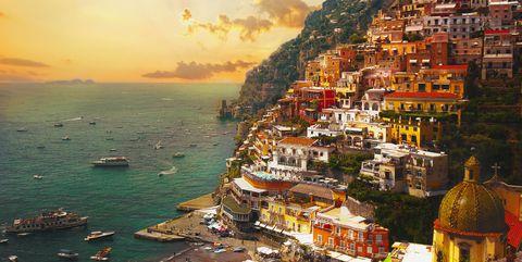Reasons to visit the Amalfi coast - sunset