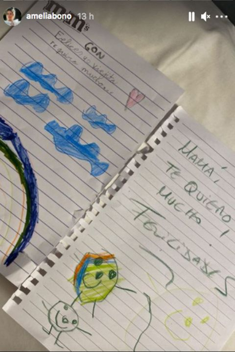 amelia bono presume de hijos artistas comparte el regalo que le han hecho sus pequeños por su cumpleaños